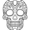 Day Of the Dead Skull Template Printable Inspiration 88 Best Day Of the Dead Masks Images In 2019