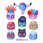 Day Of the Dead Skull Template Printable Inspiration Day Of the Dead Diy Pdf Printables Crafts Recipes and Activities…