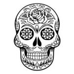 Day Of the Dead Skull Template Printable Inspiration Day Of the Dead Svg