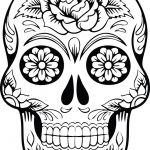 Day Of the Dead Skull Template Printable Inspiration Free Clipart A Sugar Skull