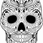 Day Of the Dead Skull Template Printable Inspiration Sugar Skull Drawing Template Unique Skull Drawing Dia Printable