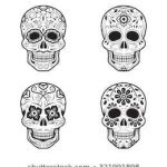 Day Of the Dead Skull Template Printable Inspirational Candy Skull Stock S & Vectors