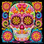 Day Of the Dead Skull Template Printable Inspired Day Of the Dead Art A Gallery Of Colorful Skull Art Celebrating Dia