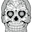 Day Of the Dead Skull Template Printable Inspiring Coloring Day Of the Dead – Sandboxpaper