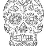Day Of the Dead Skull Template Printable Marvelous Best Dog Skeleton Coloring Page – Tintuc247