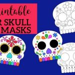 Day Of the Dead Skull Template Printable Marvelous Day Of the Dead Masks Sugar Skulls Free Printable Paper Trail Design