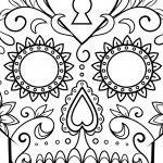 Day Of the Dead Skull Template Printable Marvelous Day the Dead Sugar Skull Coloring Page