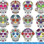 Day Of the Dead Skull Template Printable Pretty Blank Sugar Skull Template Skull Template Blank Sugar for Resume