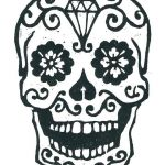 Day Of the Dead Skull Template Printable Pretty Day the Dead Skull Template Blank Skulls Templates Sugar Ideas