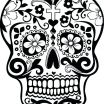 Day Of the Dead Skull Template Printable Pretty Sugar Skull Makeup Template – Beluquafo