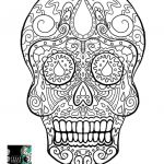 Day Of the Dead Skull Template Printable Wonderful 62 Fresh Day the Dead Coloring Sheets