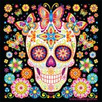 Day Of the Dead Skull Template Printable Wonderful Day Of the Dead Art A Gallery Of Colorful Skull Art Celebrating Dia