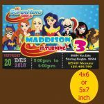 Dc Superhero Girls Invitations Awesome Dc Superhero Girls Ic Birthday Invitation Dc Superhero