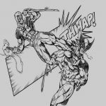 Deadpool Coloring Pages Inspiring Deadpool Coloring Pages Deadpool Vs Wolverine Digital Pencils by Ram