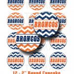 Denver Broncos Printable Logo Wonderful Denver Broncos Football Booth Props and Party Decorations