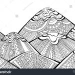 Detailed Coloring Pages for Adults Fresh Printable Coloring Page Adults Mountain Landscape Stock Vector
