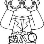Detective Coloring Pages Marvelous Detective Coloring Pages