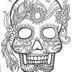 Dia De Los Muertos Coloring Pages Printable Amazing Skull Color Pages Printable Skulls Coloring Pages for Kids Skull
