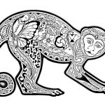 Difficult Coloring Pictures Inspiring Free Coloring Page Coloring Difficult Monkey A Coloring Page with A