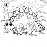 Dino Coloring Pages Inspiration Awesome Stegosaurus Coloring Page