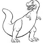 Dinosaur Coloring Pages to Print Pretty Dinosaur who Has Sharp Teeth Coloring for Kids