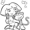 Dora Coloring Book Awesome Dora the Explorer Boots Coloring Pages