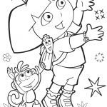 Dora the Explorer Free Inspired Coloring Pages Dora the Explorer