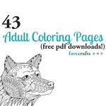 Downloadable Coloring Pages for Adults Inspirational 43 Printable Adult Coloring Pages Pdf Downloads