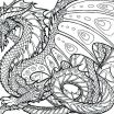 Dragon Adult Coloring Books Exclusive Realistic Dragon Coloring Page – Palmarosa
