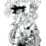 Dragon Ball Coloring Book Best Of Part 3 Black and White Coloring