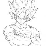 Dragon Ball Z Coloring Beautiful Goku Coloring Pages Inspirational Drawings to Color Unique Home