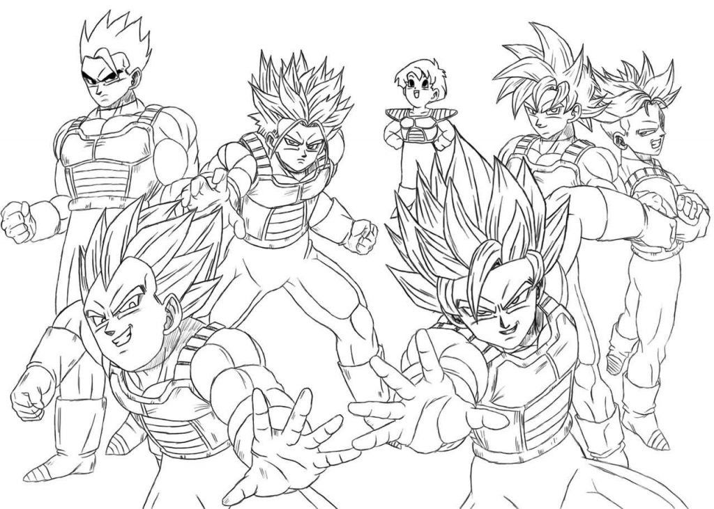coloring page Cool Dragon Ball Z Coloring Pages Sheets With Page
