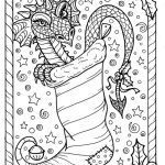Dragon Coloring Books for Adults Exclusive Dragon Christmas Coloring Page Digital Jpg File Adult Color Fantasy