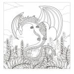 Dragon Coloring Books for Adults Inspired Coloring Coloring Page Adults Monster Dragon Design Dragons Adult