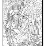Dragon Coloring Books Inspired Amazon Dragons An Adult Coloring Book with Fun Beautiful and
