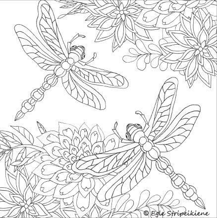 Dragonfly Coloring Book Best Coloring Book for Adults Words and Colors for soul by Egle