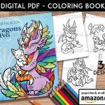 Dragons Pictures to Print Inspirational Dragons with Pets Coloring Book Kids Adult Coloring Pages Cute