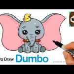 Draw so Cute Best How to Draw Dumbo Easy and Cute Drawing In 2019