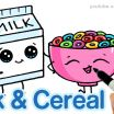 Draw so Cute Best How to Draw Milk and Cereal Step by Step Cute and Easy Cartoon