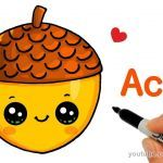 Draw so Cute Exclusive How to Draw A Cute Acorn Easy Drawing and Art