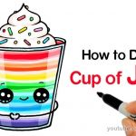 Draw so Cute Inspired How to Draw A Cup Of Jello Easy Harleys In 2019