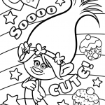 Dreamworks Trolls Coloring Book Beautiful Cute Trolls Colouring Pages