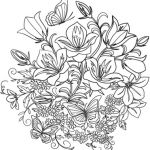 Elena Coloring Book Creative Coloring Pages Flowers butterfly and Flowers Coloring Page