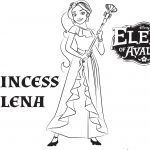 Elena Of Avalor Coloring Pages to Print Inspiring Elena Avalor Coloring Pages