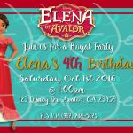 Elena Of Avalor Free Printables Inspired Details About 8 Disney Princess Elena Of Avalor Birthday Party Thank