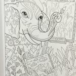Elephant Adult Coloring Pages Creative Amazon the Art Of Marjorie Sarnat Elegant Elephants Adult