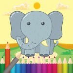 Elephant Coloring Book Elegant Animal Coloring Book Fun Games for Kids by Kitiphong Misitthi