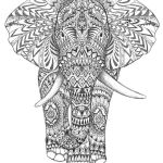 Elephant Coloring Book Inspired Aztec Elephant Hand Drawing Detail Graphic Art Hand Drawing