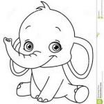Elephant Coloring Books Beautiful Outlined Baby Elephant for Coloring Books Elephants
