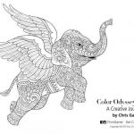 Elephant Coloring Books Wonderful Flying Elephant Colouring In Page Prints